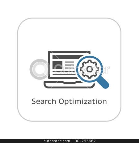 Search Optimization Icon. Flat Design. stock vector clipart, Search Optimization Icon. Flat Design. Isolated Illustration. by Vadym Nechyporenko