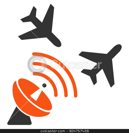 Flight Radar Icon stock vector clipart, Flight Radar vector icon. Style is flat symbol, rounded angles, white background by ahasoft