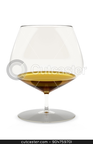 cognac glass stock photo, An image of a typical cognac glass isolated on white by Markus Gann
