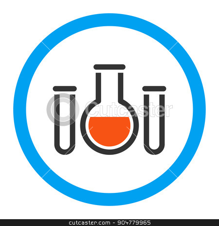 Chemical Vessels Rounded Glyph Icon stock photo, Chemical Vessels glyph icon. Style is flat rounded symbol, bright colors, rounded angles, white background by ahasoft