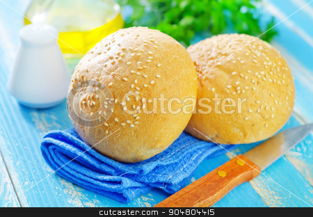 rolls for burgers stock photo, rolls for burgers by tycoon