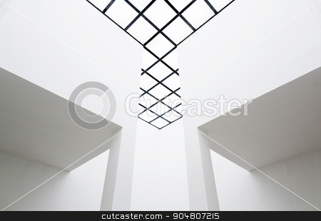 Empty interior with translucent ceiling  stock photo, Empty room interior with translucent ceiling  by Digifoodstock
