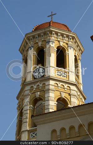 Orthodox church in Saloniki stock photo, Orthodox church in Saloniki, Greece - religion, pray and blue sky by Pavel Bernshtam