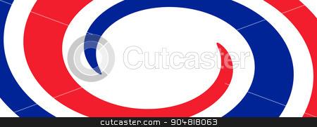 France Flag Whirl stock photo, France Flag with the color blue white red. by Henrik Lehnerer