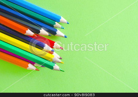 color pencils stock photo, color pencils by tycoon
