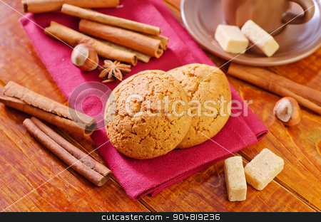 cookies with coffee stock photo, cookies with coffee by tycoon