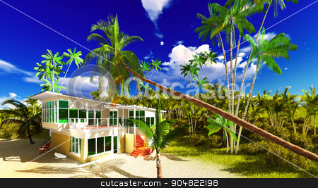 Beach resort in tropical country stock photo, Beach resort in the tropical country by Dariusz Miszkiel