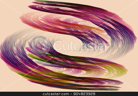 Abstract image : fractal vortex. stock photo, Fractal image on a light background is displayed colored lines of the vortex. by Georgina198