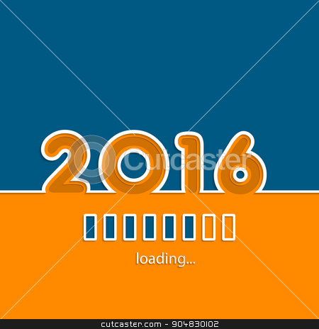 New year 2016 loading background  stock vector clipart, New year 2016 loading background design with vivid colors by Mihaly Pal Fazakas