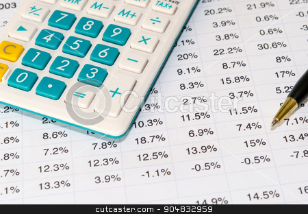 financial documents stock photo, financial documents and pen. by aoo3771