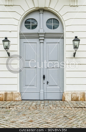 Vienna door. Vienna, Austria stock photo, Massive wooden door. Image taken in Vienna, Austria by Serhii
