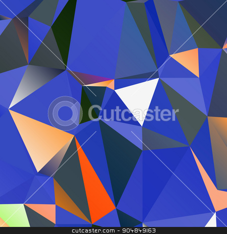geometric background with polygons stock vector clipart, Abstract geometric background with triangular polygons. Vector by Andrey