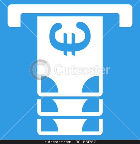Euro Atm Withdraw Icon stock vector