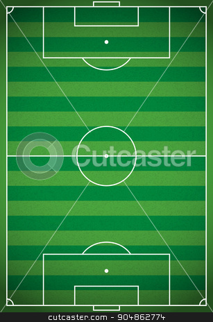 Vertical Realistic Football - Soccer Field Illustration stock vector clipart, A realistic vertical textured grass football - soccer field. Vector EPS 10. File contains transparencies. by Jason Enterline