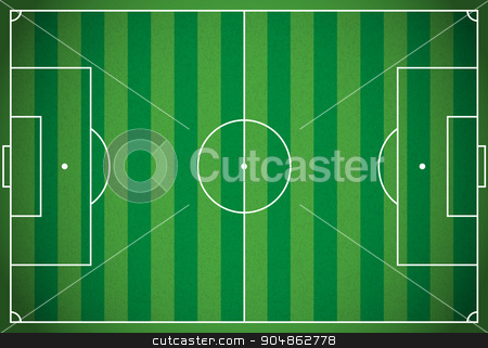 Realistic Football - Soccer Field Illustration stock vector clipart, A realistic textured grass football - soccer field. Vector EPS 10. File contains transparencies. by Jason Enterline