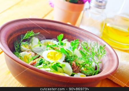 fresh salad stock photo, fresh salad by tycoon