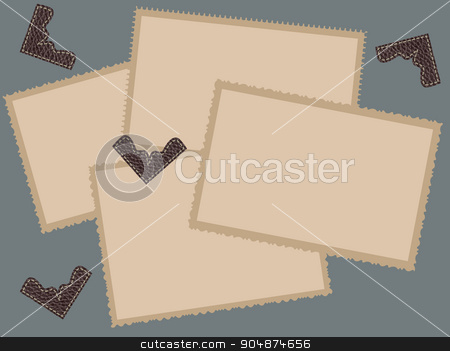 Old photo frames stock vector clipart, Retro photo frames. Vector Design Template by Portokalis