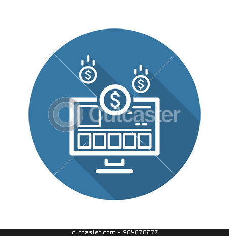 Income Store Icon. Business Concept. stock vector clipart, Income Store Icon. Flat Design. Business Concept. Isolated Illustration. by Vadym Nechyporenko