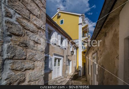 Narrow streets of Herceg Novi old town stock photo, Narrow streets of Herceg Novi old town. Popular touristic spot, Montenegro by Alexander Nikiforov
