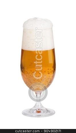 Glass of beer stock photo, Glass of beer isolated on white by Digifoodstock