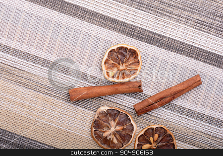Slices of fresh dried lemon, orange and spices for cooking or baking stock photo, Slices of fresh dried lemon, orange and spices for cooking or baking by Sergey Lysenkov