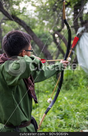 Professional target archery, hunting in the forest,  close-up stock photo, Professional target archery, hunting in the forest, close-up by Vassiliy Kochetkov