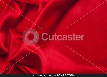 Red Fabric Texture stock photo, Texture image of a red satin fabric.  by AntoniaLorenzo