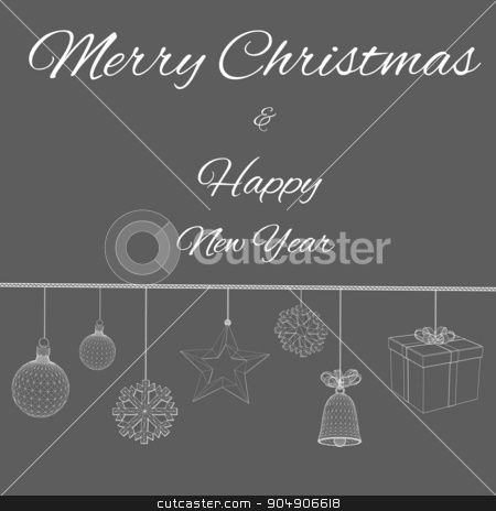 Happy new year Vector illustration. Polygon triangle. The structural grid of polygons. Abstract Creative concept background. Christmas ornaments hanging rope stock vector clipart, Happy new year Vector illustration. Polygon triangle. The structural grid of polygons. Abstract Creative concept background. Christmas ornaments hanging rope by Vladimir Khapaev