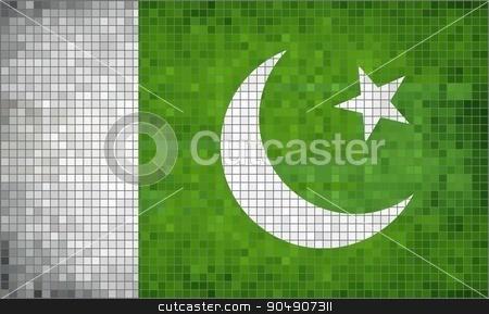 Flag of Pakistan stock vector clipart, Flag of Pakistan - Illustration,  Abstract Mosaic Pakistan Flag,  Grunge mosaic Flag of Pakistan,  Abstract grunge mosaic vector by Jugoslav