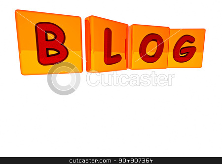 The BLOG word made of blocks stock photo, The BLOG word made of blocks with letters by Anatolii Vasilev