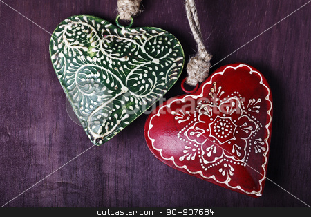 decorative souvenir in the form of heart stock photo, a decorative souvenir in the form of heart by HOMON OLEKSANDR