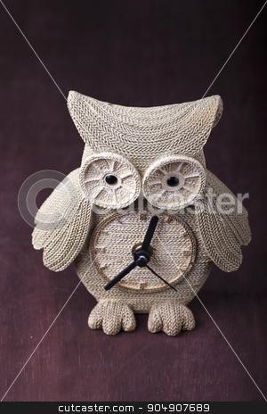 Watch souvenir in the form of an owl stock photo, a Watch souvenir in the form of an owl by HOMON OLEKSANDR