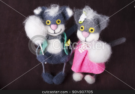toy, cat, funny, fun, souvenir stock photo, decorative toy cat with buttons instead of eyes by HOMON OLEKSANDR