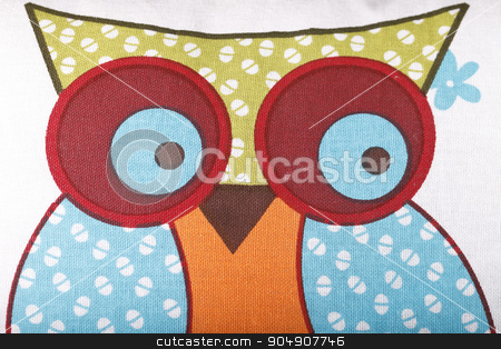 image owls stock photo, the image of an owl on a colorful cloth by HOMON OLEKSANDR