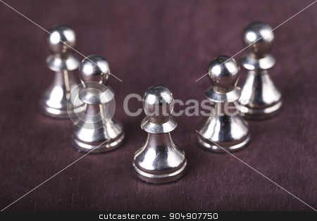 chess pawn stock photo, chess pawn on a brown background by HOMON OLEKSANDR
