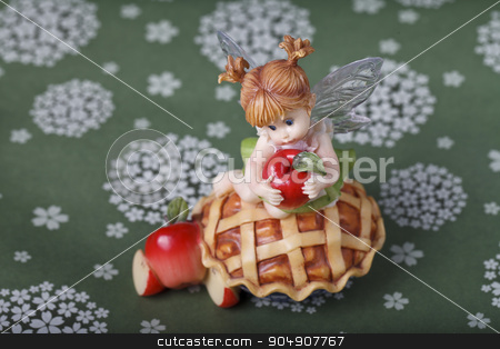 little fairy sculpture stock photo, little fairy sculpture on a colored background by HOMON OLEKSANDR