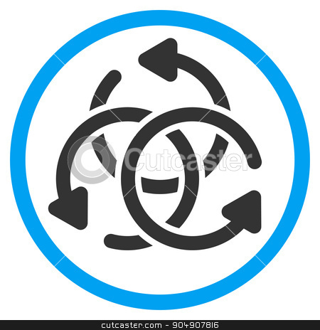 Knot Rotation Rounded Icon stock vector clipart, Knot Rotation vector icon. Style is bicolor flat circled symbol, blue and gray colors, rounded angles, white background by ahasoft