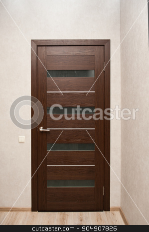 beautiful brown doors in modern style stock photo, beautiful brown doors in modern style. by timonko
