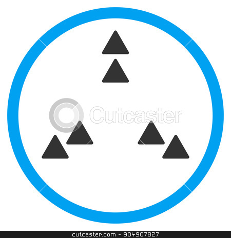 Move Out Rounded Icon stock vector clipart, Move Out vector icon. Style is bicolor flat circled symbol, blue and gray colors, rounded angles, white background by ahasoft