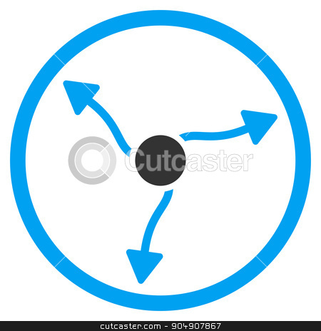 Curve Arrows Rounded Icon stock photo, Curve Arrows glyph icon. Style is bicolor flat circled symbol, blue and gray colors, rounded angles, white background by ahasoft