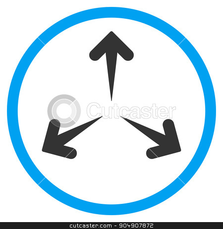 Expand Arrows Rounded Icon stock photo, Expand Arrows glyph icon. Style is bicolor flat circled symbol, blue and gray colors, rounded angles, white background by ahasoft
