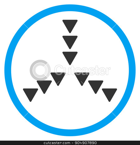Inside Direction Rounded Icon stock photo, Inside Direction glyph icon. Style is bicolor flat circled symbol, blue and gray colors, rounded angles, white background by ahasoft