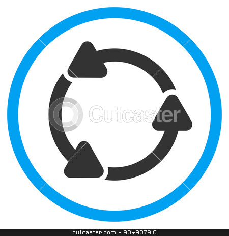Rotate Ccw Rounded Icon stock photo, Rotate Ccw glyph icon. Style is bicolor flat circled symbol, blue and gray colors, rounded angles, white background by ahasoft