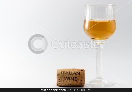 The italian wine stock photo, The italian wine on a withe background by Alfredo Steccanella