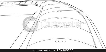 Outlined Conveyor Belt stock vector clipart, Outlined conveyor belt illustration on white background by Eric Basir