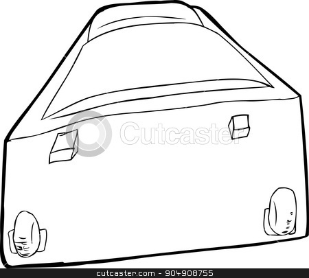 Single Luggage Suitcase stock vector clipart, Single suitcase with wheels laying down over white by Eric Basir