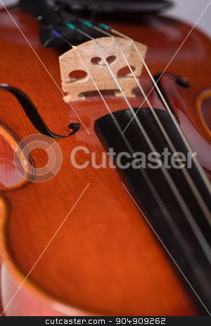 Close Up Violin stock photo, A close up shot of the details of a violin. by Scott Dumas