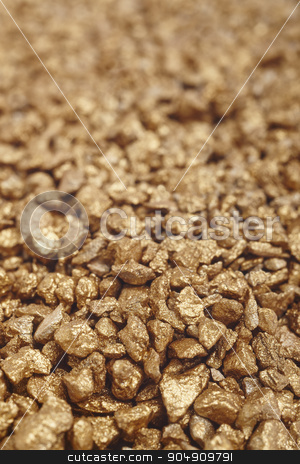 Gold nuggets background. Finance and rates stock photo, Gold nuggets background. Finance and rates. Vertical format by ABBPhoto