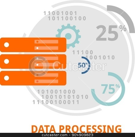 vector - data processing stock vector clipart, An illustration showing a data processing concept by Amir Zukanovic