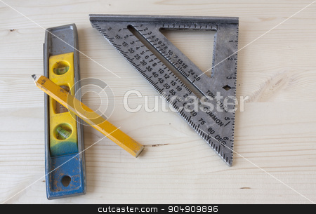 Measuring Tools stock photo, Hand tools used to take measurements in carpentry.  by AntoniaLorenzo